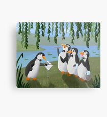 Singing Practice - Penguins Mary Poppins Metal Print