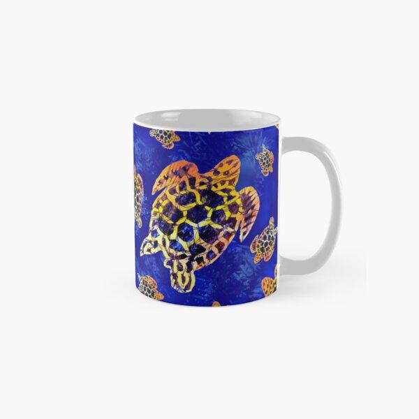 Sea Turtles Batik African Art Seamless Pattern  Classic Mug