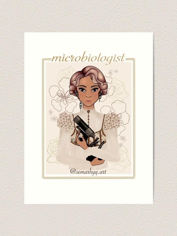 Alternate view of Microbiologist (Science Romance) Art Print