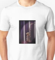 musical instrument,saxaphone photograph,photoshoped T-Shirt