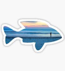 Fish & Seascape Fisherman Silhouette  Sticker