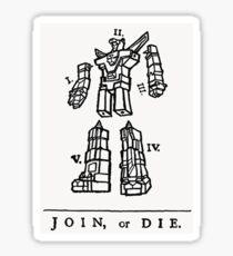 Join or Die Transformers Sticker