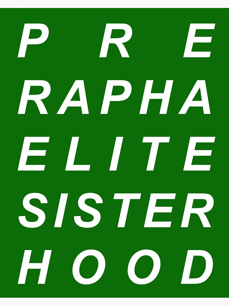 PRE RAPHAELITE SISTERHOOD FEMINIST ART HISTORY by bauhausbaby