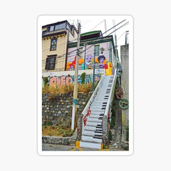 Keyboard Stairway Sticker