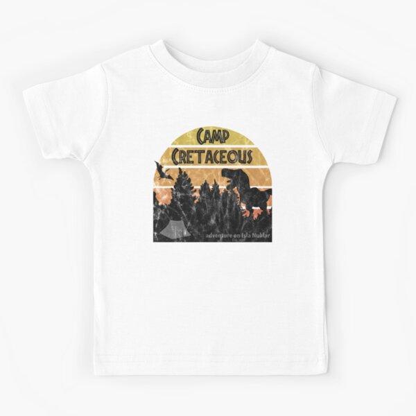 Camp Cretaceous (distressed) Kids T-Shirt