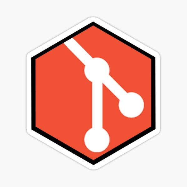 Git Hexagon Sticker