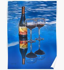 Bottle of Wine by Lena Owens Poster