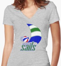 DEFUNCT - SAN DIEGO SAILS Women's Fitted V-Neck T-Shirt