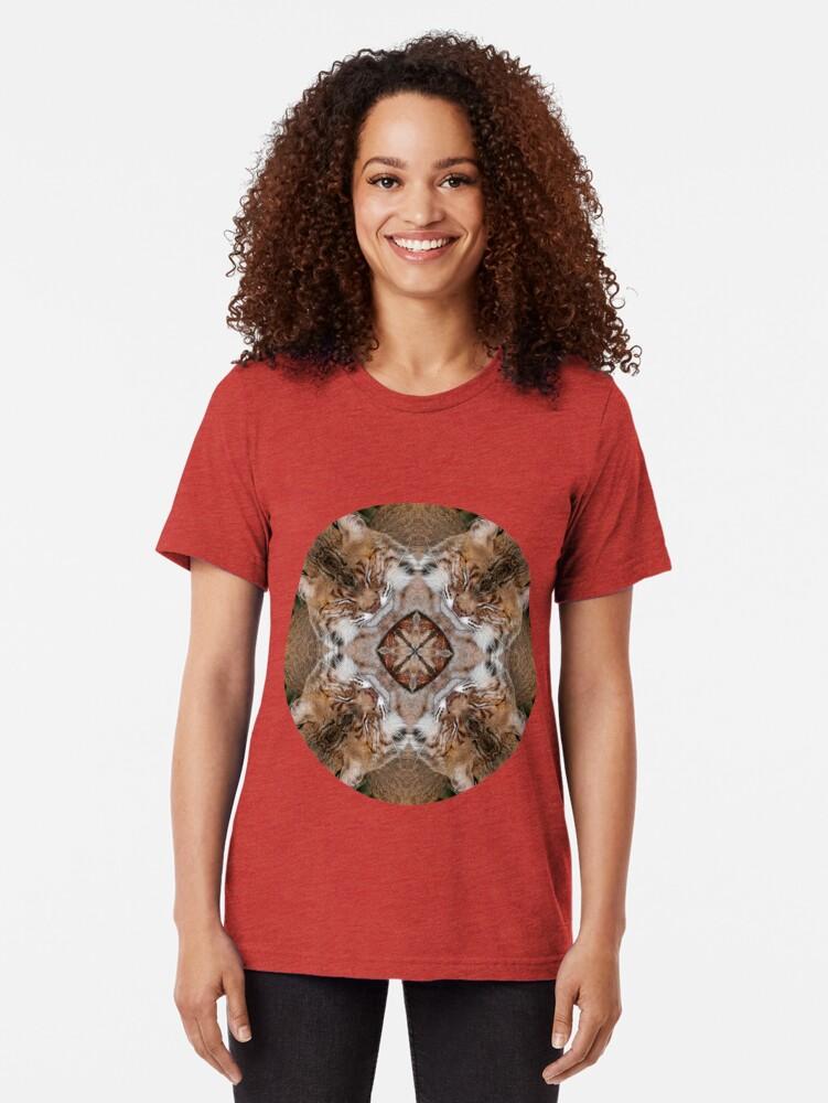 Vista alternativa de Camiseta de tejido mixto Sleepy Kitty Mandala