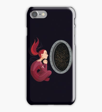 Quiet Time in Space iPhone Case/Skin