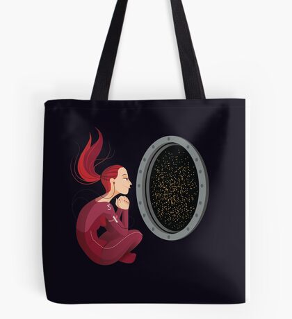 Quiet Time in Space Tote Bag