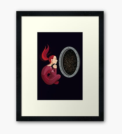 Quiet Time in Space Framed Print
