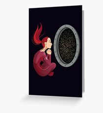 Quiet Time in Space Greeting Card