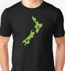New Zealand tattoo stylized map in green T-Shirt