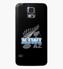 KIWI AZ mit Neuseeland-Kiwivogel Rugbyball und Silberfarn Hülle & Skin für Samsung Galaxy