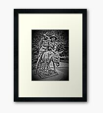 Simpson And His Donkey, 1915 (B&W) Framed Print