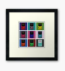 Gameboy Warhol Framed Print