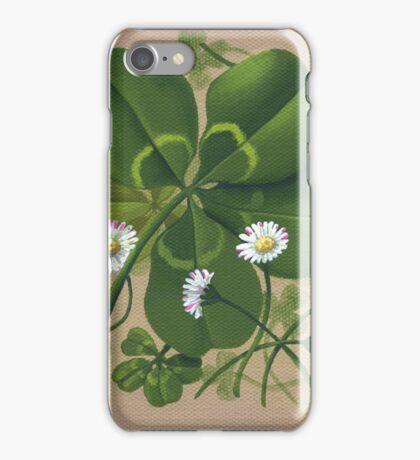 Cloverleaf - acrylic painting iPhone Case/Skin
