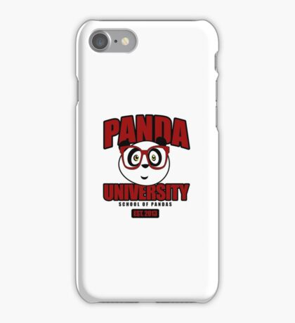 Panda University - Red iPhone Case/Skin