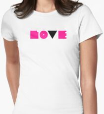 Dyke Love Womens Fitted T-Shirt