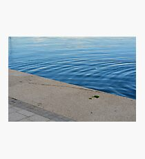 Ripples in the blue water. Photographic Print