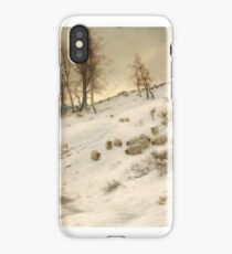A Flock of Sheep in a Snowstorm , Joseph Farquharson iPhone Case