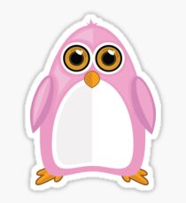Pink Penguin Sticker