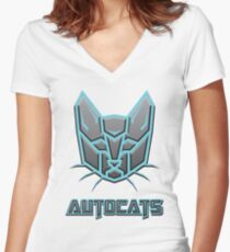 Autocats Transformers Women's Fitted V-Neck T-Shirt
