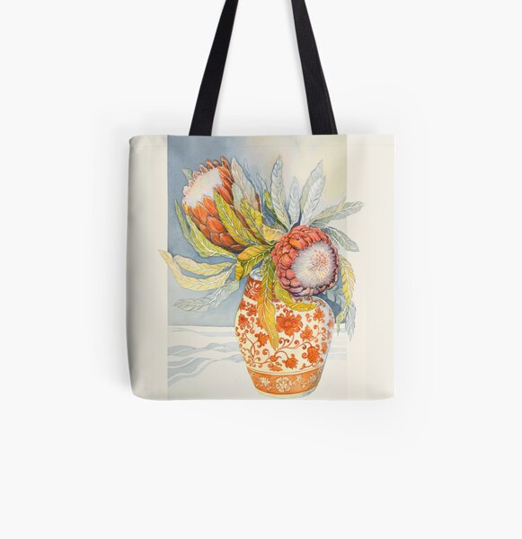 Protea 2 All Over Print Tote Bag