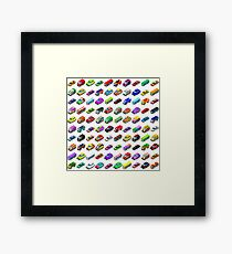 Cars Game Icons Isometric Vehicles Framed Print