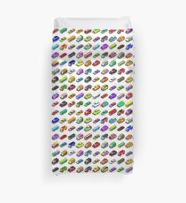 Cars Game Icons Isometric Vehicles Duvet Cover