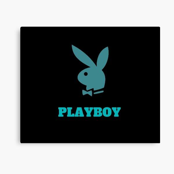 Vintage Playboy Logo Pink Bleu Butterfly Cute Canvas Print