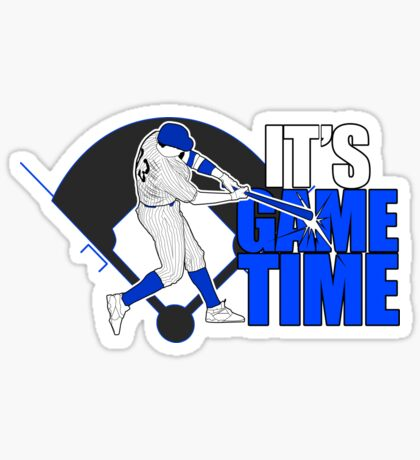 It's Game Time - Baseball (Blue) Sticker
