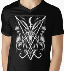 SIGIL OF LUCIFER AND BAPHOMET Men's V-Neck T-Shirt