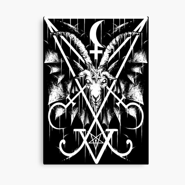 SIGIL OF LUCIFER AND BAPHOMET Canvas Print