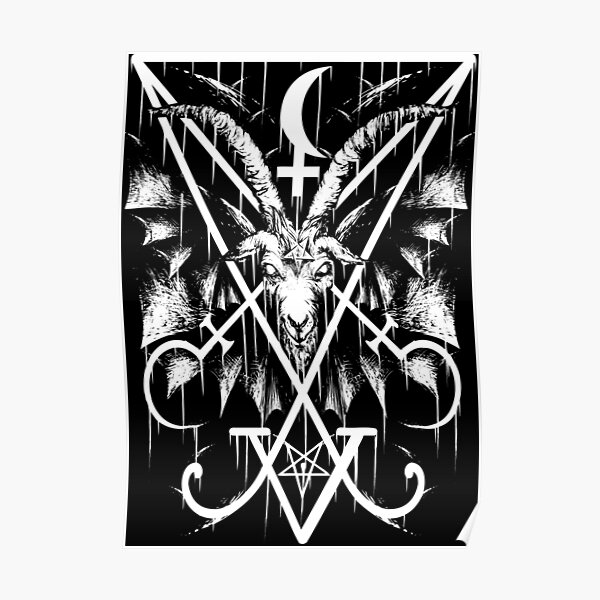 SIGIL OF LUCIFER AND BAPHOMET Poster