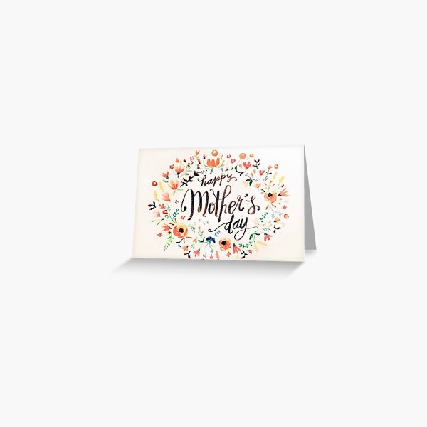 Happy Mother's Day - Floral Greeting Card
