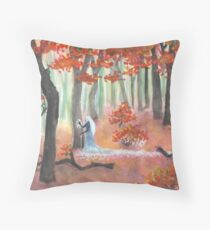 The First Day of Winter Throw Pillow
