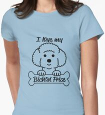 I love my Bichon Frise Women's Fitted T-Shirt