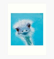 Square Ostrich painting Art Print