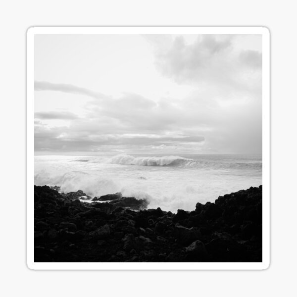 """""""Epic Waves of Canary Islands"""" Sticker"""