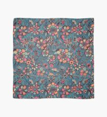 Sweet Spring Floral - melon pink, butterscotch & teal Scarf
