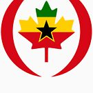 Ghanaian Canadian Multinational Patriot Flag Series by Carbon-Fibre Media