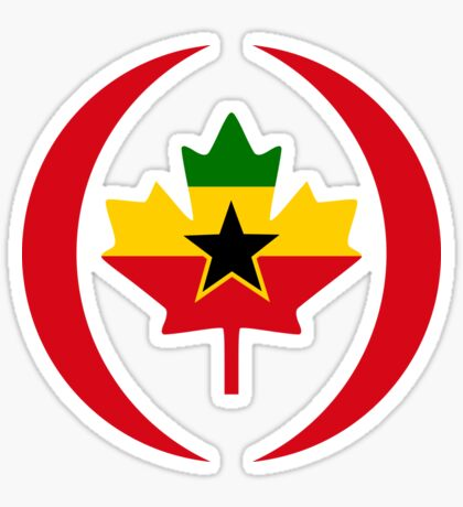 Ghanaian Canadian Multinational Patriot Flag Series Sticker