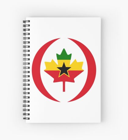 Ghanaian Canadian Multinational Patriot Flag Series Spiral Notebook