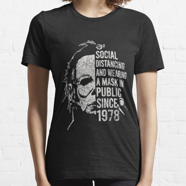 T-shirt rétro vtg Michael Myers Distancing social 1978 T-shirt essentiel
