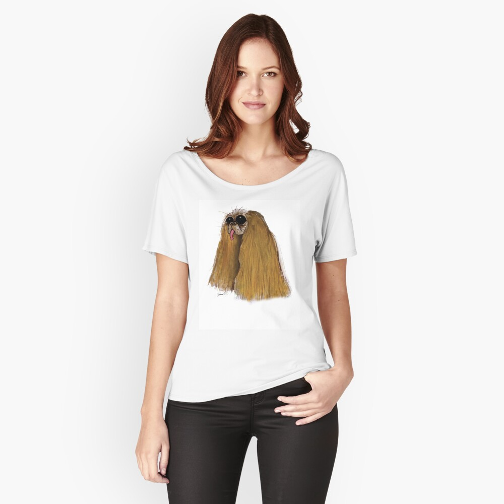 a Cavalier King Charles Spaniel  Relaxed Fit T-Shirt