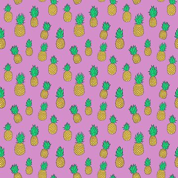Pineapples on Pink by carabara