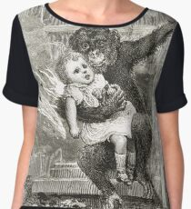 Monkey rescuing a child from a fire Chiffon Top