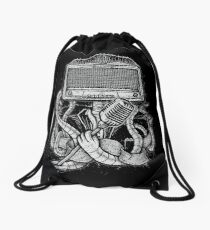 Robot Rock Drawstring Bag